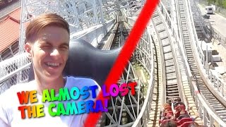 TAKING THE CAMERA ON A ROLLER COASTER!?!