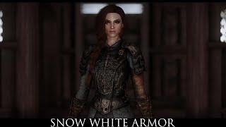 TES V - Skyrim Mods: Snow White Armor by Ultracriket