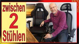 Gamer Stuhl als Bürostuhl ✔ Bürostuhl als Gaming Stuhl [ Vergleichstest ] Dowinx Gaming Homeoffice