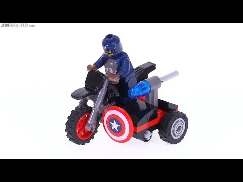 Lego Figurine Minifig Super Heroes Captain America's Motorcycle Neuf New 30447