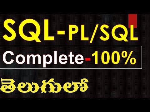 SQL commands and PL/SQL programs complete in telugu - Oracle SQL-PL/SQL in telugu