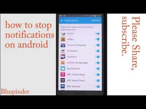 how to stop notifications on android