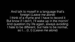NF  Leave Me Alone Lyrics