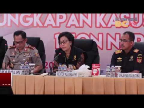 Konferensi Pers Pengungkapan Kasus 1 Ton Narkoba