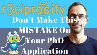 Don't Make This Mistake On Your PhD Application!