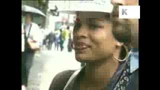 Divine Brown Surrounded by Paparazzi, London 1995, Archive Footage