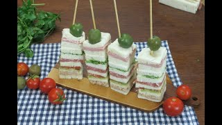 Multicolor Finger Sandwiches: A Fun Way To Bring Some Color To The Table!