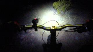 Night ride from Arica trailhead