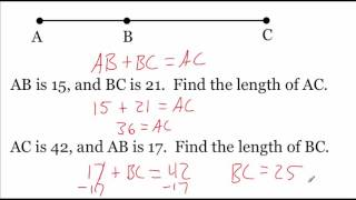 Geometry 1.2: Using Segments and Congruence