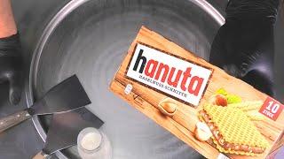 Hanuta Ice Cream Rolls   Waffle and Chocolate Cream rolled Ice Cream - satisfying ASMR Food Video
