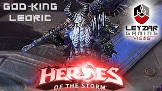 Heroes of the Storm (Gameplay) - God-King Leoric Skin (HotS Leoric Gameplay)
