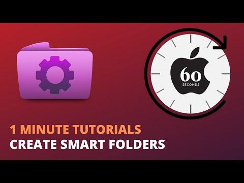 Create Smart Folders on a Mac - 1 Minute Tutorials