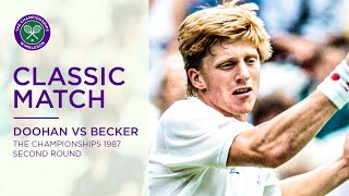 Boris Becker vs Peter Doohan | Wimbledon 1987 second round | Full Match Replay