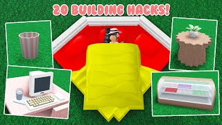 20 Bloxburg Building HACKS and Tricks! *EASY* (Roblox)
