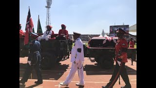 Mzee Moi's body arrives at the Nyayo Stadium #RestInPeaceMoi