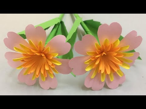 How To Make Beautiful Flower With Paper Making Paper Flowers Step