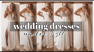 Wedding Dresses Under $300 | Try On Haul!! ♡