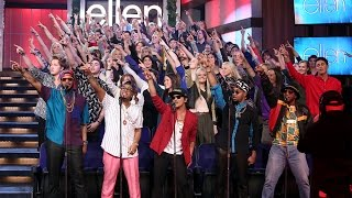 Ellen's Favorite Moments: Mark Ronson And Bruno Mars Perform 'Uptown Funk'