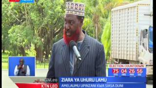 Rais Uhuru Kenyatta aendeleza kampeni za Jubilee Lamu alipokutana na jamii ya Waislamu