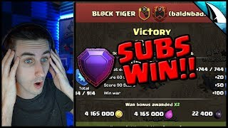 *50v50 SUBS WIN* Subscribers War Together! | Clash of Clans