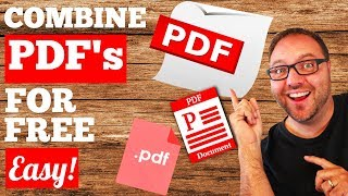 How To Combine PDF Files Into One - FREE
