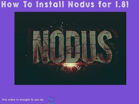 comment installer nodus 1.8