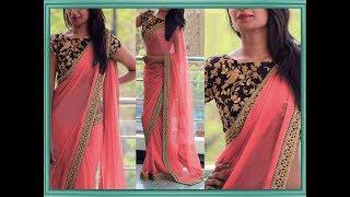 Plain Saree With Heavy Work Blouse | Latest Designer Saree | Fashion