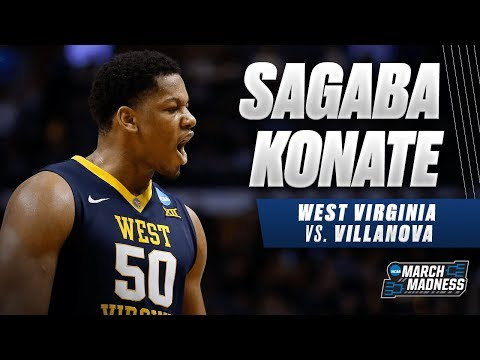 West Virginia's Sagaba Konate put up a strong performance in the Sweet 16