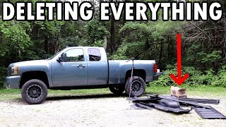 Extreme Lifted Silverado Weight Deletes