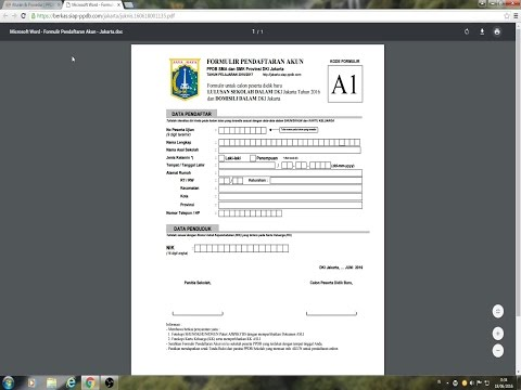 Video Cetak Form & Alur PPDB Online SMA DKI 2016/2017 @ jakarta.siap-ppdb.com