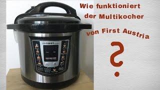 First Austria Multikocher Bedienungsanleitung