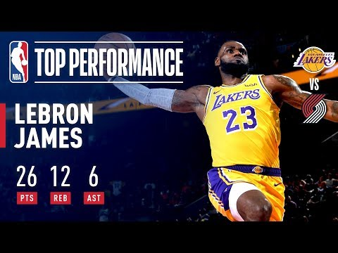 e5b1ae95c897 LeBron James Fills The Stat Sheet In Laker Debut