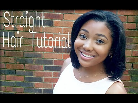 How To STRAIGHTEN RELAXED HAIR with Flat Iron