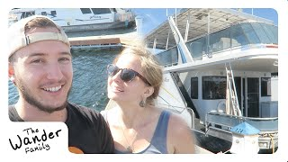 LIVING ON A HOUSEBOAT! OUR NEW HOME! | The Wander Family
