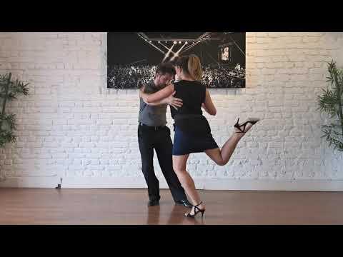 Online Tango Lessons by Esref & Vanessa, Milonguero Giros and Cortados, Tango Live TV