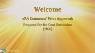 Prior Approval: No Cost Extension