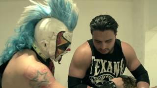Texano en backstage de Apizaco - Lucha Libre AAA Worldwide - Marzo 2017