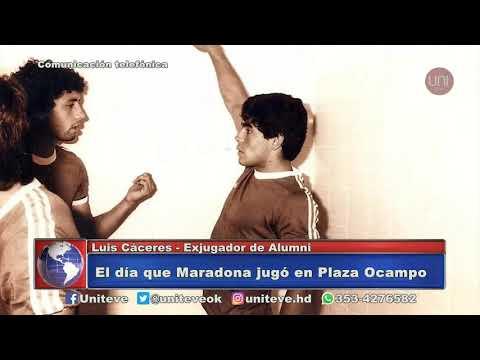 El recuerdo del paso de Maradona por Villa María