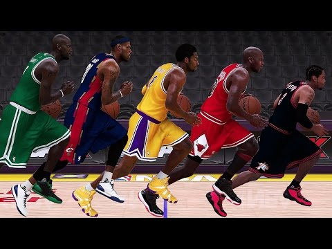 NBA 2K17 Speed Test - All Positions (PG/SG/SF/PF/C) Fastest Historic Players In NBA 2K17