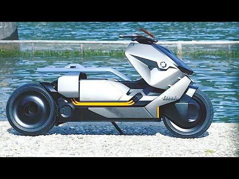 BMW Electric Scooter Review World Premiere BMW Motorrad Concept Link 2018 CARJAM TV HD