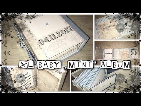 """Mini Album Baby Boy """"First Year"""" Scrapbook, Babys erstes Jahr, watch me craft, Craftupdate, DIY"""