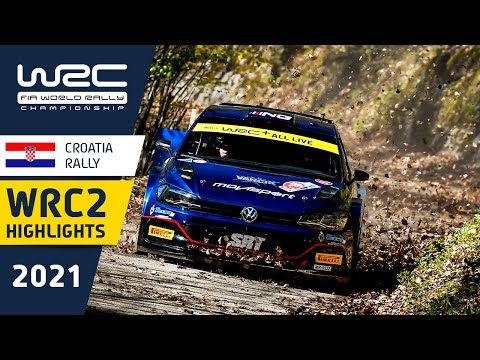 WRC2 2021 第3戦ラリー・クロアチア Day1ハイライト動画