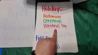 Week 8 Writing Prompt- Kindergarten Memory Book!