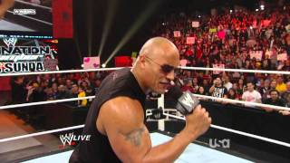 The Rock talks trash about John Cena (02-14-2011)