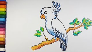 Easy And Simple Bird Drawing .
