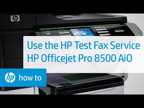 How to Use the HP Test Fax Service - HP Officejet Pro 8500 Premier All-in-One Printer A909n   HP
