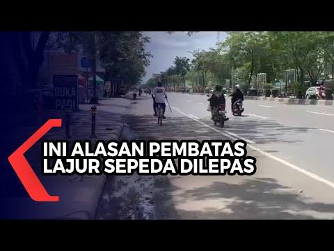 Stick Cone Pembatas Lajur Sepeda Dilepas, Dishub : Dampak Banjir dan Mendukung Normalisasi Sungai