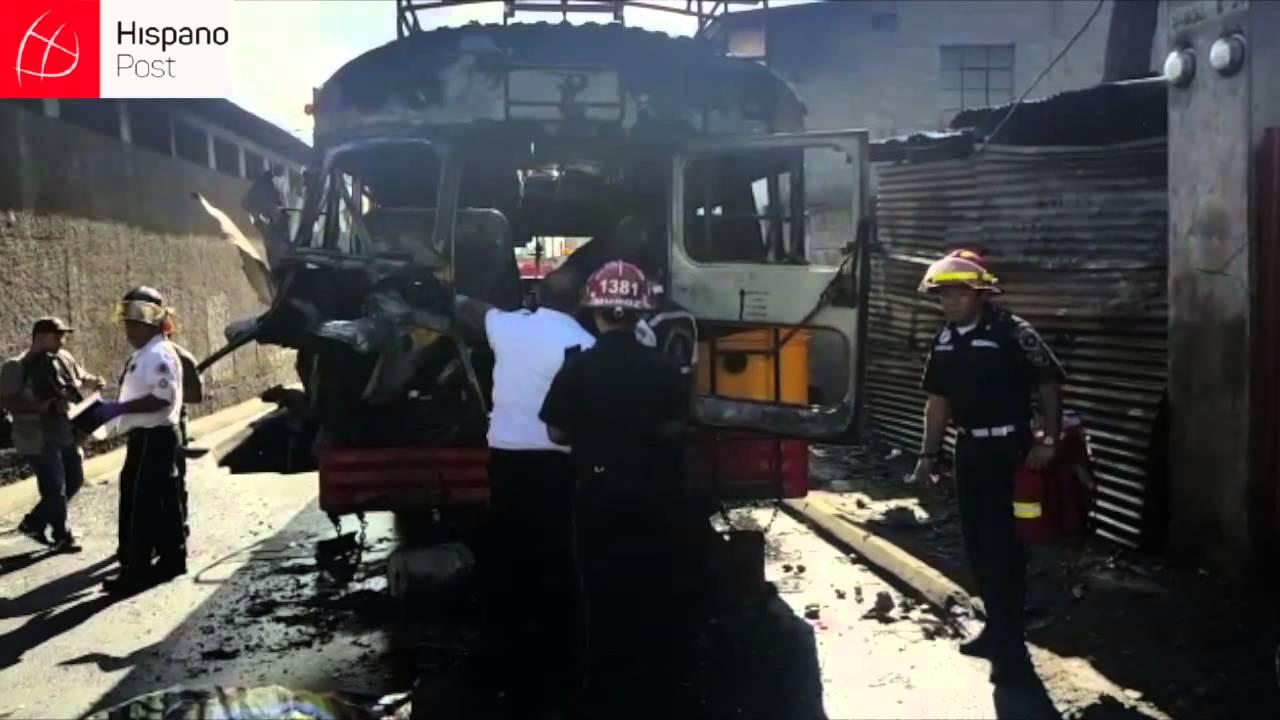 Día trágico para Guatemala tras explotar una bomba en un autobús