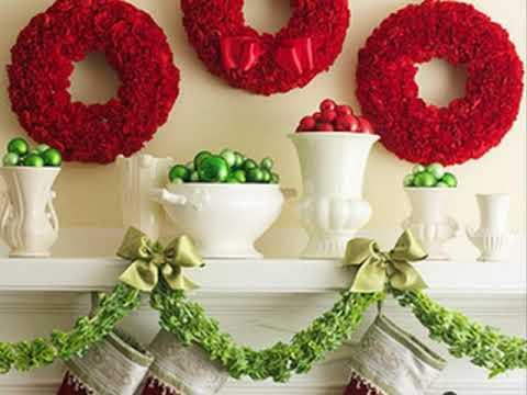 Mantel de navidad decorando ideas