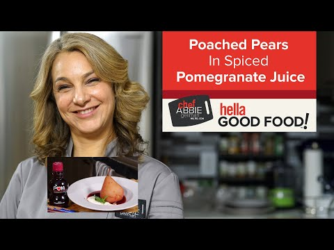 How to Poach Pears with Pomegranate Juice